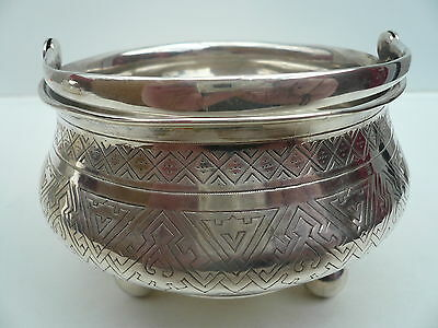 Russian Silver Cauldron, Russia, Alexander Fuld, Antique, c.1890
