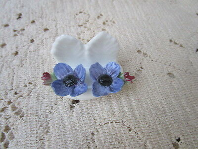 Aynsley Fine Bone China Flower Wild Violets Hand Painted Small for Trinket box