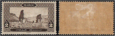 Morocco. 1917 Monuments. 2 Fr. MH