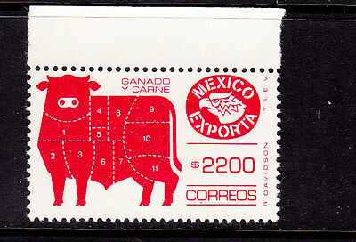 Mexico Exporta Cattle#1763 fluorescent, Paper13 glossy,gum matte.unwmk.MNH.