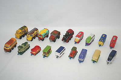 Chuggington Learning Curve Train Lot of 18 Diecast & Wooden Mix