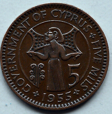 Cyprus 1955 5 Mil Coin