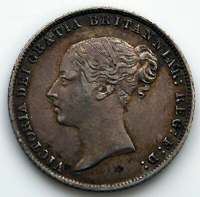 Victoria 1864 (Die 22) Sixpence       (SN)