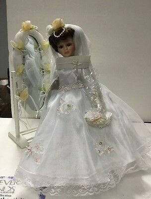 Forever Friends Collectible Porcelain Bride Doll W/certificate