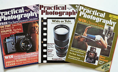 3 X VINTAGE PRACTICAL PHOTOGRAPHY MAGAZINES 1976. Please See Pictures