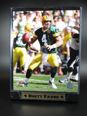 Plate Favre Green Bay Packers Logo Wood Wall Picture 30 cm,Plaque NFL Football