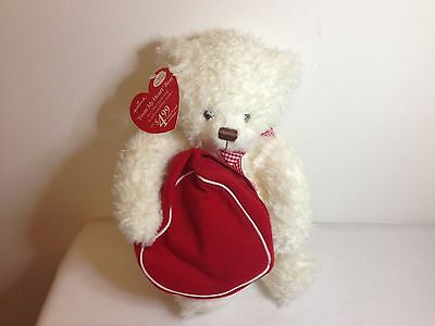 Hallmark 2003 Plush From My Heart Valentines Day Bear - Zippered Bag - With Tag