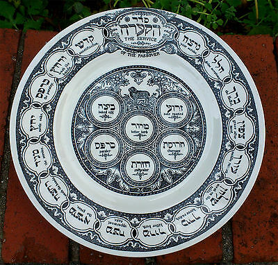 The Service of The PASSOVER PESACH SEDER PLATE TEPPER RIDGWAYS LONDON Teller