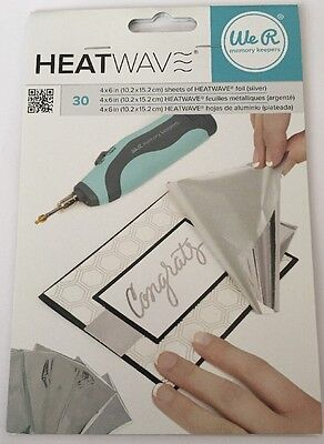 We R Memory Keepers Heatwave Foil Sheets 30 Silver Foil Sheets New/Sealed