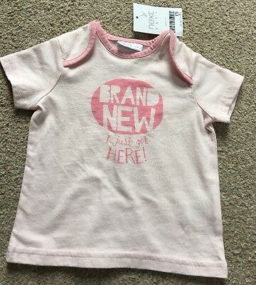 Next New Baby Girl Newborn Gift Tshirt Photo Prop Milestone 0-3 Months
