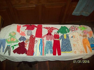 Vintage Mixed Lot of 30 Barbie & Handmade Clothing Pieces-Dresses,Shorts,Pants +