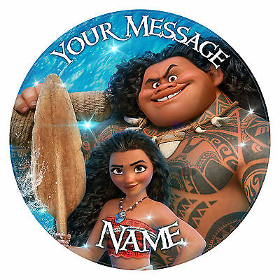 """Moana. Personalised Birthday  Cake Topper. Edible party print on icing 7.0"""""""