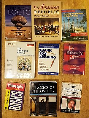 Mixed lot of 17 books including textbooks, philosophy and politics