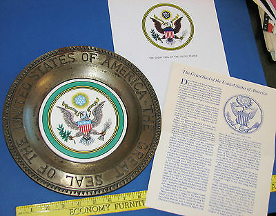 Great Seal of the United States of America Display Plate USA President USA