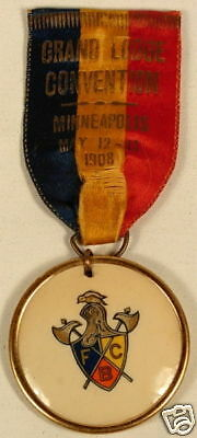Knights Of Pythias Fcb 1908 Minneapolis Convention Pin