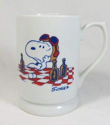 Vintage Snoopy Red Baron Stein Mug Girls And Root Beer Are Not The Answer