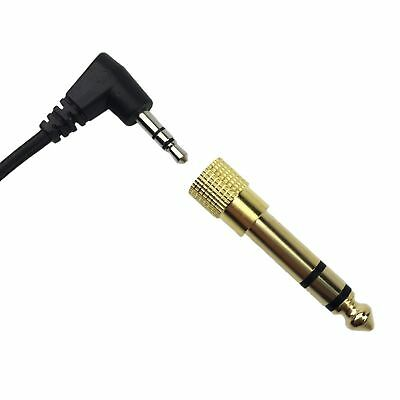 "3.5mm Gold Audio Adapter to 6.35mm Earphone Jack 1/4"" Headphone Stereo Adapter"