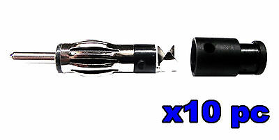 From OZ Quality 10PC Car Aerial Male Plug for Radio CD Player Antenna +FREE POST