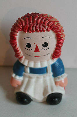 Vintage Raggedy Ann Piggy Bank Bobbs-Merrill Co Play Pal Plastic