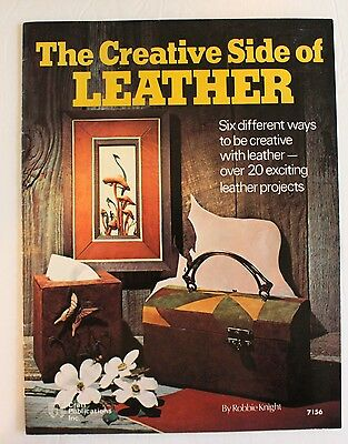 The Creative Side Of Leather Robbie Knight 7156 Booklet Craft Vintage 1976