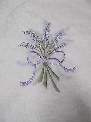 Rectangle Embroidered Runner,91X35Cm,new,beautiful,with Lavender Motif