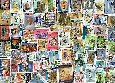 Sri Lanka 100 Different Used Stamps Wildlife Bird Insect Cricket Animal Buddha