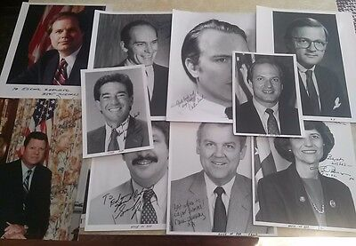 (15) Autographed 1980's Politician Photos w/ some Unsigned #1