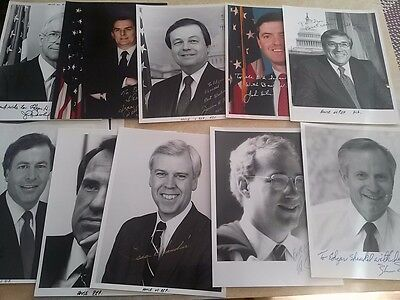 (15) Autographed 1980's Politician Photos w/ some Unsigned #2
