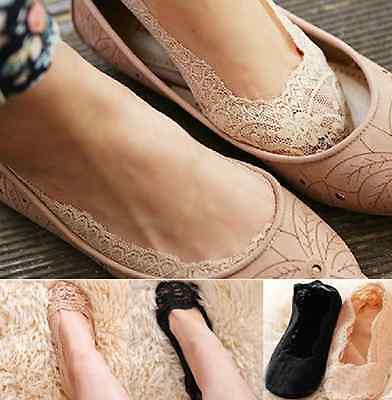 Women Socks Lace Ladies Girls Invisible Ballerina Footsie Low Cut Invisible Sock