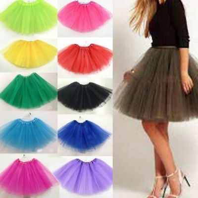 Women's Adult Dancewear Tutu Mini Ballet Pettiskirt Princess Party Skirt Costume