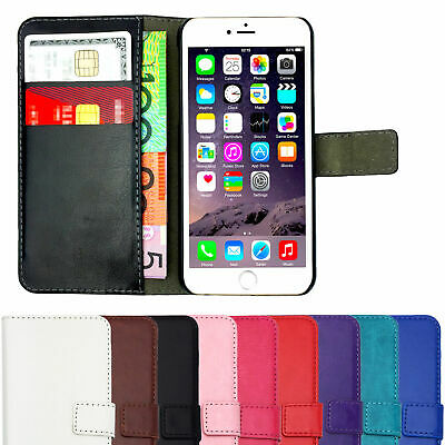 Leather Flip Case Wallet Magnetic Stand Cover For Apple iPhone 7 Plus 8 10 X