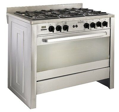 LPG Range Cookers by Universal 100x60x85cm Stainless Steel Brand New 6 Burner