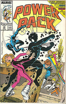 Power Pack  # 33 Marvel Comics Power Pack & New Mutants & Spider-Man