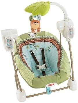 Fisher Price space saving baby swing with music