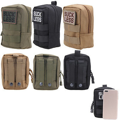 Tactical Military Nylon Waist Bag EDC Molle Pouch Tool Zipper Waist Fanny Pack