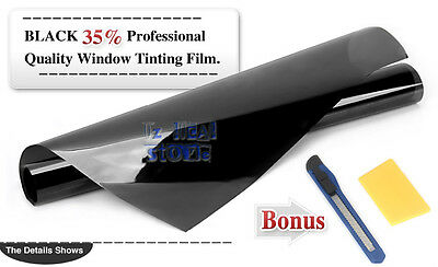 Window Tint Film Black 35% VLT 760mm X 7m Roll 76cm X 7m Car Auto House Glass