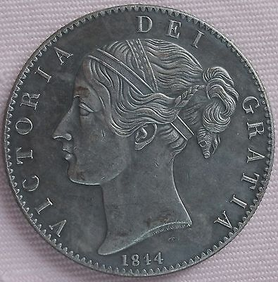 1844 Victoria Crown, Copy, (FREE UK POSTAGE AVAILABLE), Same size & Weight