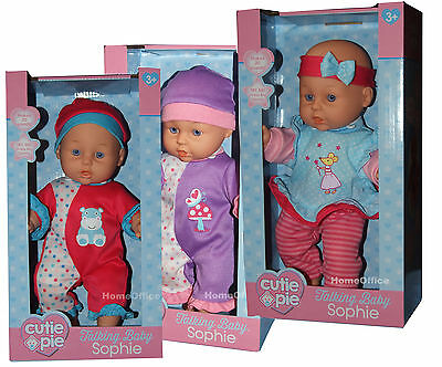 Cutie Pie Baby Talking Doll With 20 Phrases New