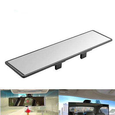 300mm Flat Safety Car Trucks Interior Clip On Rear View Mirror Wide Angle Mirror