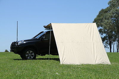 Car Side Awning Extension Wall 2.5M x 2.9M Caravan Privacy Camping 4WD 4X4