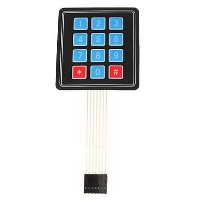 5 PCS 4 x 3 Matrix Array 12 Key Membrane Switch Keypad Keyboard for Arduino