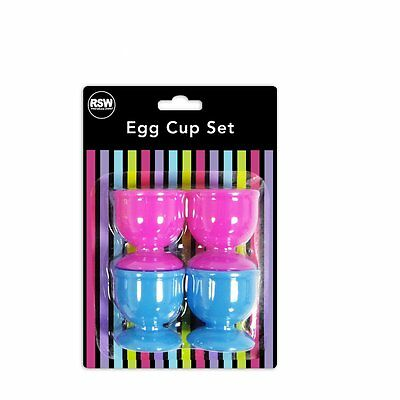 """Brights"" Pack of 4 Egg Cups in 2 Assorted Bright Colours"