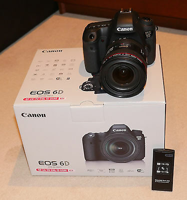Canon EOS 6D +24-70mm f/4.0L kit 20.2MP Full Frame DSLR Invoice Warranty