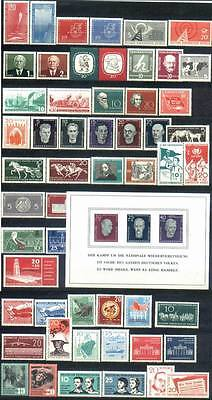 DDR East-Germany GDR: All stamps of 1958 in a year set complete, MNH and genuine
