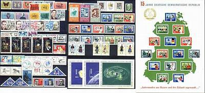 DDR East-Germany GDR: All stamps of 1964 in a year set complete, MNH and genuine