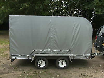 2011 10X6X5 Galvanised Twin Axle Covered Vehicle Transporter Trailer.