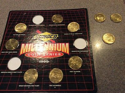 Sunoco Gas Millenium Coin Collection Incomplete 1999 Coin Serie Lot With Holder+