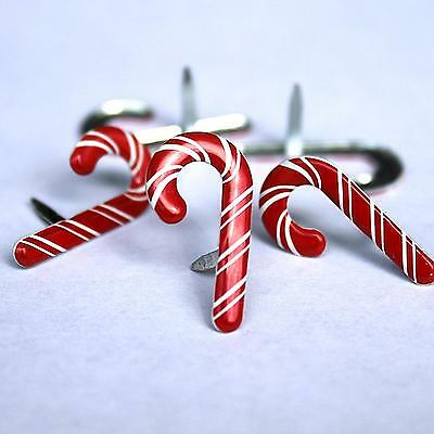 CANDY CANE BRADS Christmas Peppermint Scrapbooking Card Making Stamping