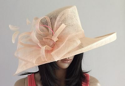 Nigel Rayment Champagne Wedding Hat Occasion Mother Of The Bride