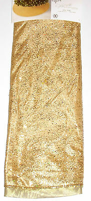 Christmas Tree Skirt 52 inches Gold, Jaclyn Smith, New w/Tag